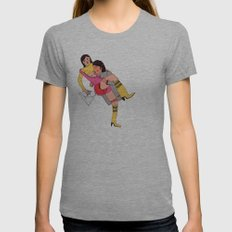 eroti print Womens Fitted Tee Athletic Grey SMALL