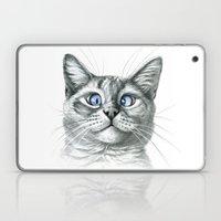 Cross Eyed cat G122 Laptop & iPad Skin