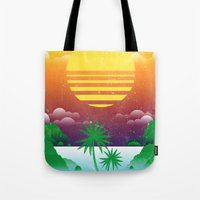 Retro Summer Tote Bag