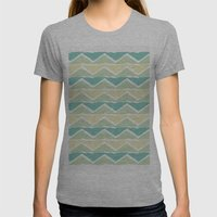 ocean triangles Womens Fitted Tee Athletic Grey SMALL