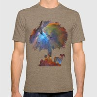 Resting In The Nebula. Mens Fitted Tee Tri-Coffee SMALL