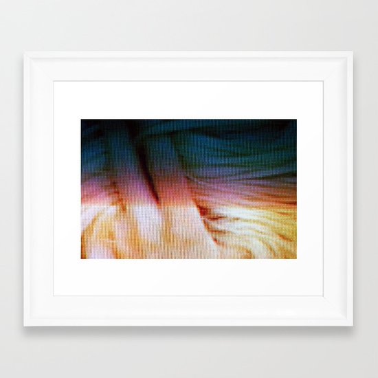 hair twist Framed Art Print