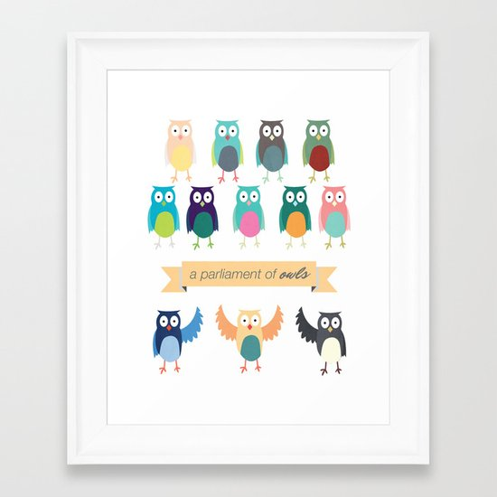 A Parliament of Owls Framed Art Print