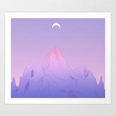 Soft Moon Art Print