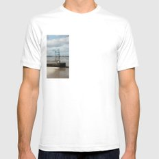 Somewhere  Mens Fitted Tee SMALL White