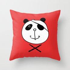 One eyes panda Throw Pillow