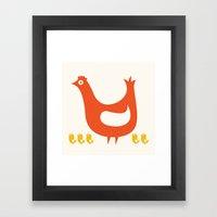 Mama Hen Framed Art Print