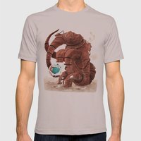 Space Brontosaurus  Mens Fitted Tee Cinder SMALL
