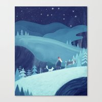 Midnight stroll Canvas Print