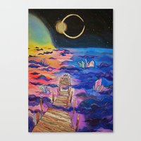 Space Clouds Crystals  Canvas Print