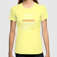 Go After Inspiration With A Club Womens Fitted Tee Lemon SMALL
