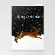 Stationery Cards featuring Xmas Card No 3 by Anipani