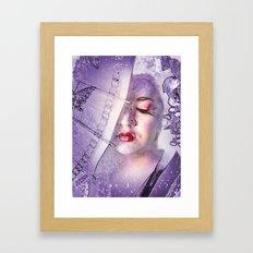 The Geisha With White Hair Framed Art Print