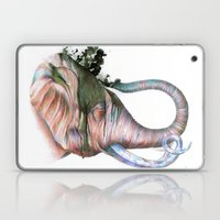 Elephant Shower In Red Laptop & iPad Skin
