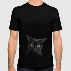 What!? Mens Fitted Tee Black SMALL