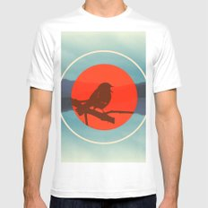 Bird Call Mens Fitted Tee White SMALL