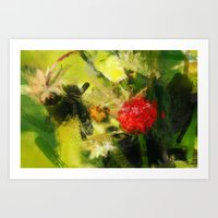 Abstract Berry Art Print