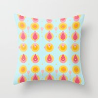 Pineapple & Ice Cream Throw Pillow