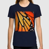 Butterfly Wing Womens Fitted Tee Navy SMALL