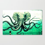 Elephant/octopus Canvas Print