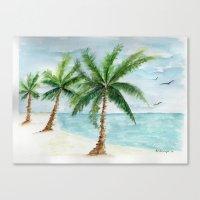 Watercolor Palm Canvas Print