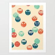 Owl Spots Art Print