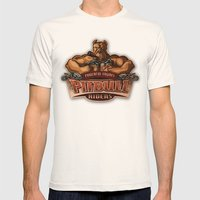 PITBULL RIDERS Mens Fitted Tee Natural SMALL