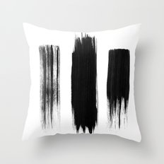 Black lines Throw Pillow