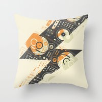 Dj's Lightning Throw Pillow
