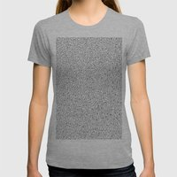 Cutlery Pattern Womens Fitted Tee Athletic Grey SMALL