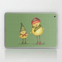 Two Chicks - green Laptop & iPad Skin