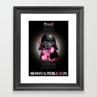 Berto: The Mental-issue pig trying Darth Vader costume Framed Art Print