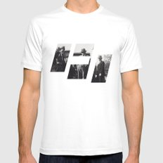 maffia White Mens Fitted Tee SMALL