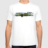 Mr Signature Glitch Huge Mens Fitted Tee White SMALL