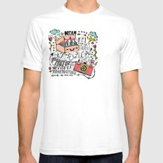 Travel Create Explore Mens Fitted Tee SMALL White