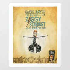 Ziggy Stardust - Book 2 - Bowie Art Print