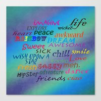 Sweet Awesome Chill Canvas Print