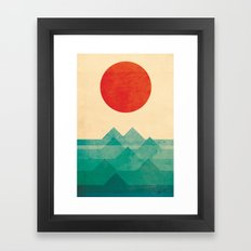 The Ocean, The Sea, The … Framed Art Print