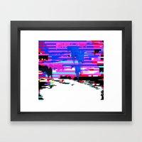 Glitch 1 Framed Art Print