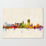 San Francisco City Skyli… Canvas Print