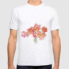 Parrot Tulips in a Glass Vase Mens Fitted Tee Ash Grey SMALL