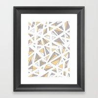 Refracted Diamond - Yell… Framed Art Print