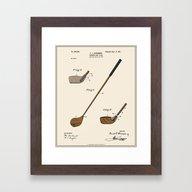 Golf Club Patent - Colou… Framed Art Print