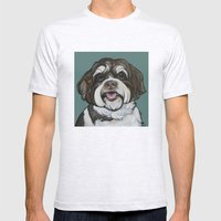 Wallace The Havanese Mens Fitted Tee Ash Grey SMALL