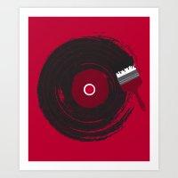 Art of Music (RED) Art Print