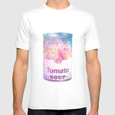 Galaxy Soup SMALL Mens Fitted Tee White