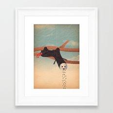 bradipo piangente Framed Art Print