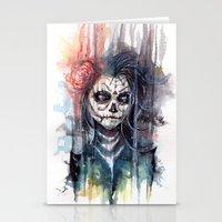 Sugar Skull - Calavera D… Stationery Cards