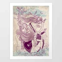 Music, Love, Peace Art Print