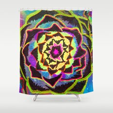 Organic Mandala Shower Curtain